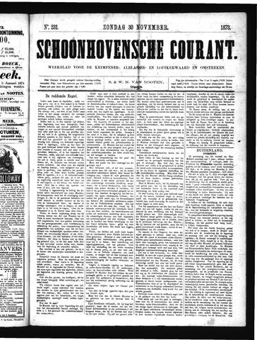 Schoonhovensche Courant 1873-11-30
