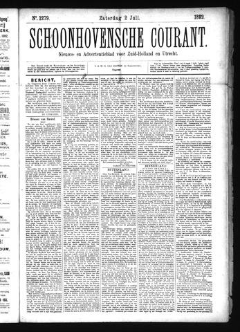 Schoonhovensche Courant 1892-07-02
