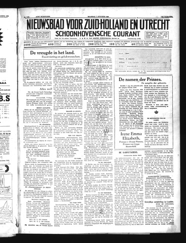 Schoonhovensche Courant 1939-08-07