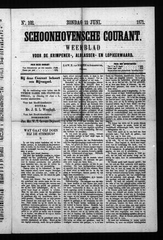 Schoonhovensche Courant 1871-06-11