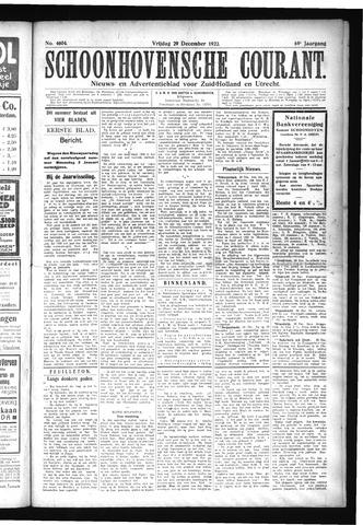 Schoonhovensche Courant 1922-12-29