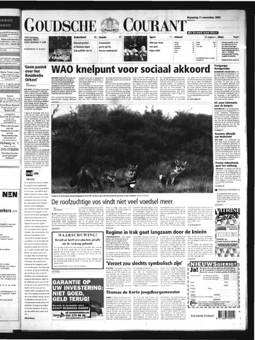 Goudsche Courant 2002-11-11