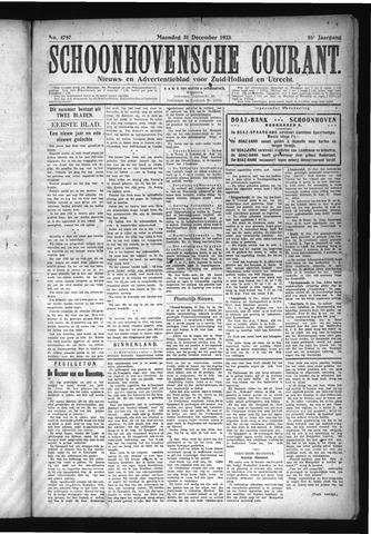 Schoonhovensche Courant 1923-12-31