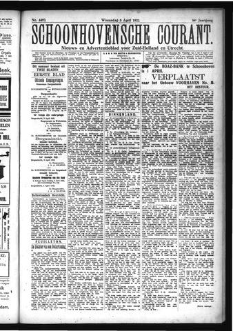 Schoonhovensche Courant 1922-04-05