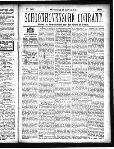Schoonhovensche Courant 1896-11-18