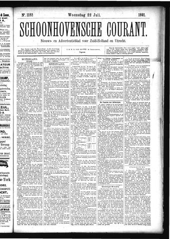 Schoonhovensche Courant 1891-07-22
