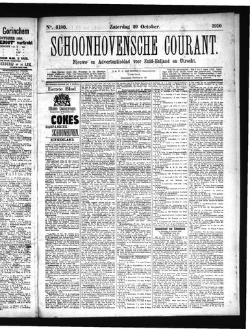 Schoonhovensche Courant 1910-10-29