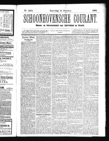 Schoonhovensche Courant 1903-10-31
