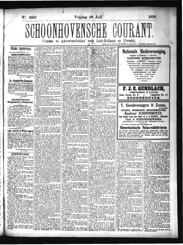 Schoonhovensche Courant 1918-07-26