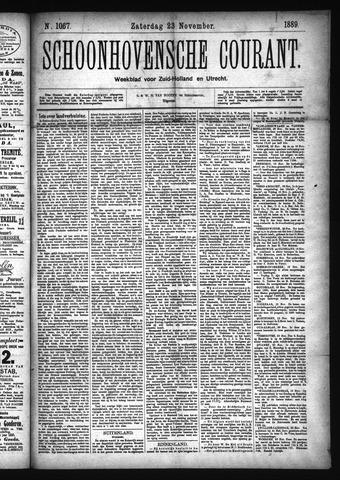 Schoonhovensche Courant 1889-11-23