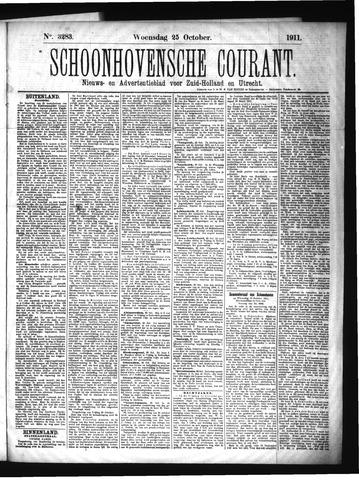 Schoonhovensche Courant 1911-10-25