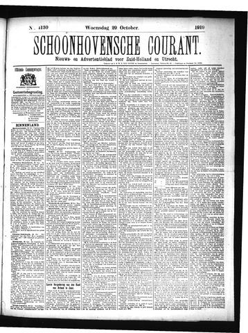 Schoonhovensche Courant 1919-10-29