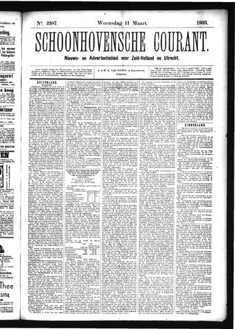 Schoonhovensche Courant 1903-03-11