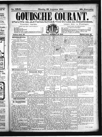 Goudsche Courant 1911-08-29