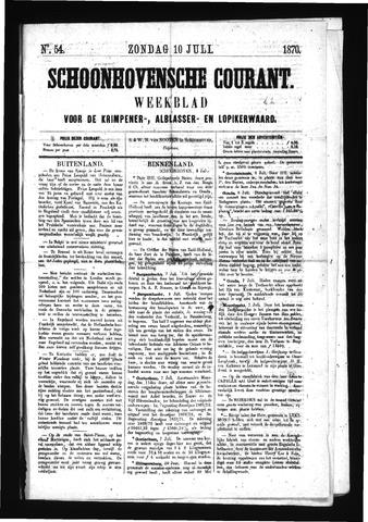 Schoonhovensche Courant 1870-07-10