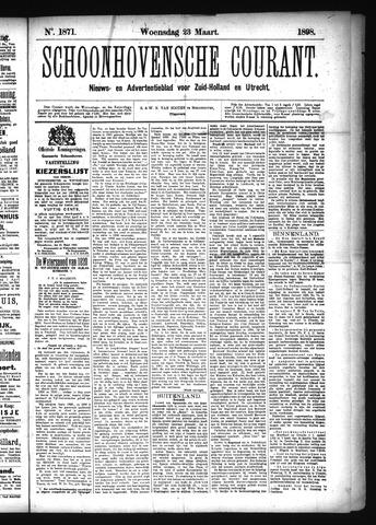 Schoonhovensche Courant 1898-03-23