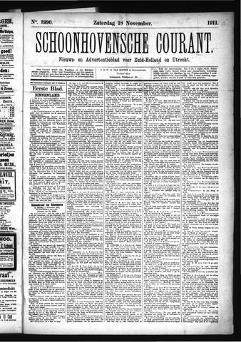 Schoonhovensche Courant 1911-11-18