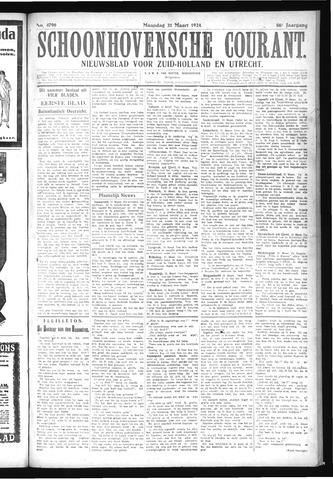 Schoonhovensche Courant 1924-03-31