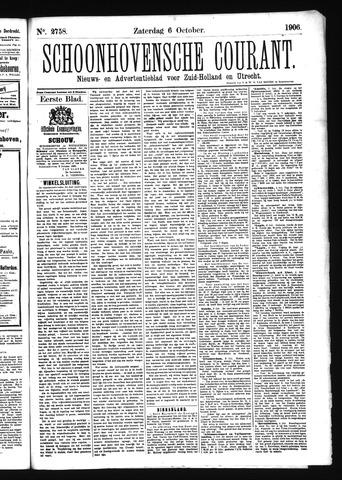 Schoonhovensche Courant 1906-10-06