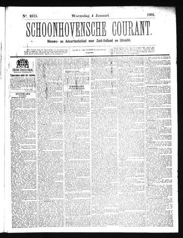 Schoonhovensche Courant 1905-01-04