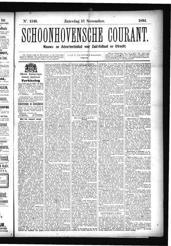 Schoonhovensche Courant 1894-11-17