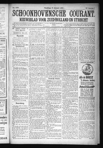 Schoonhovensche Courant 1927-01-10