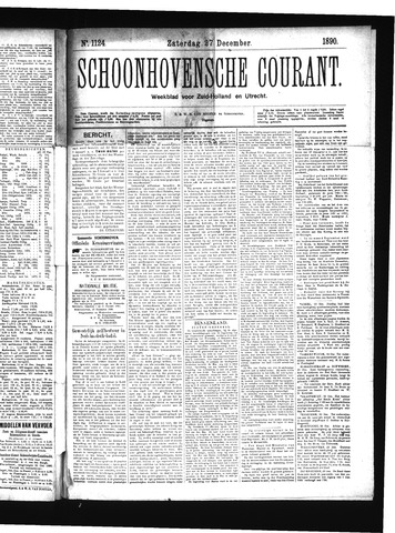 Schoonhovensche Courant 1890-12-27