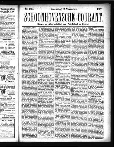 Schoonhovensche Courant 1897-11-17
