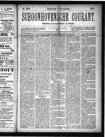 Schoonhovensche Courant 1889-11-02