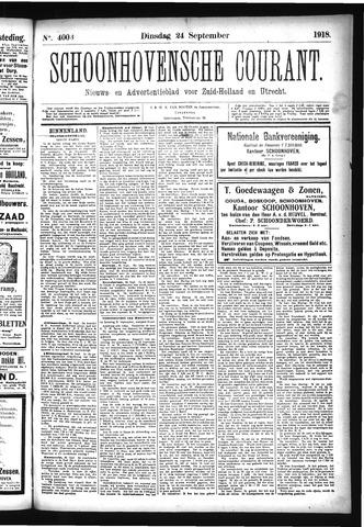 Schoonhovensche Courant 1918-09-24