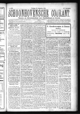 Schoonhovensche Courant 1922-08-18