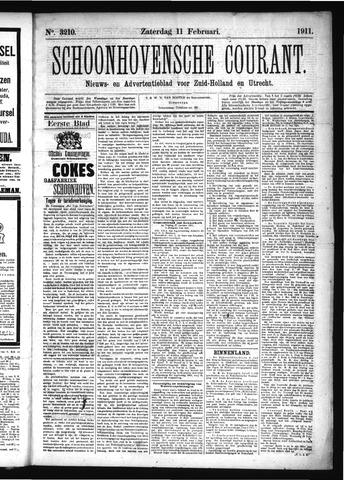 Schoonhovensche Courant 1911-02-11