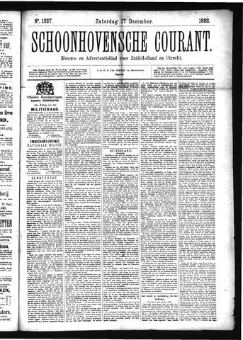 Schoonhovensche Courant 1892-12-17