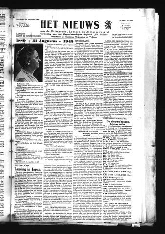 Schoonhovensche Courant 1945-08-30