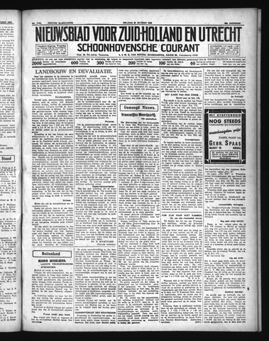 Schoonhovensche Courant 1936-10-30