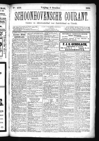 Schoonhovensche Courant 1919-10-03