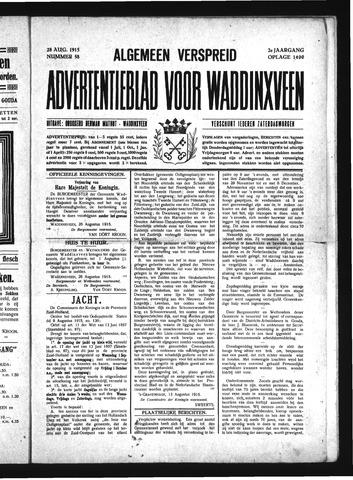 Advertentieblad Waddinxveen 1915-08-28