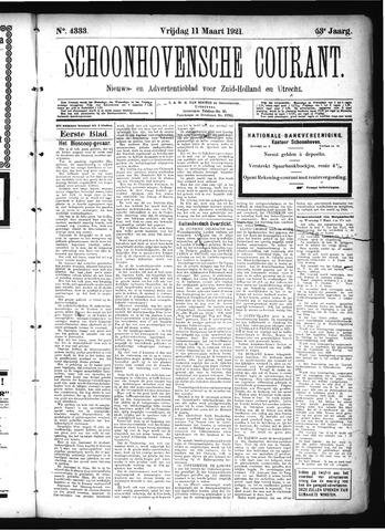 Schoonhovensche Courant 1921-03-11