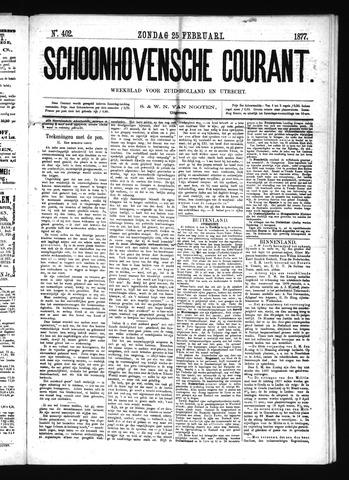 Schoonhovensche Courant 1877-02-25