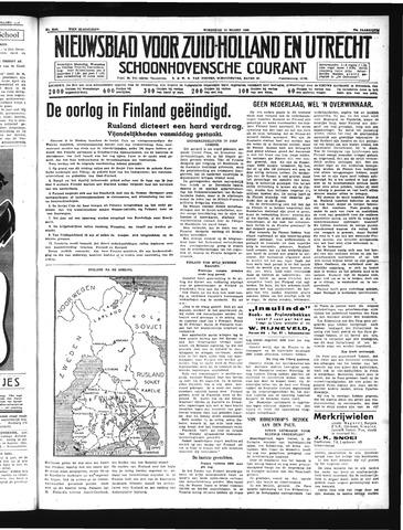 Schoonhovensche Courant 1940-03-13