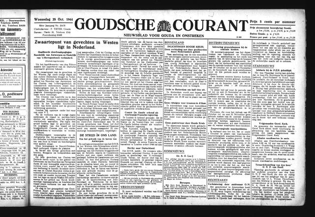 Goudsche Courant 1944-10-25