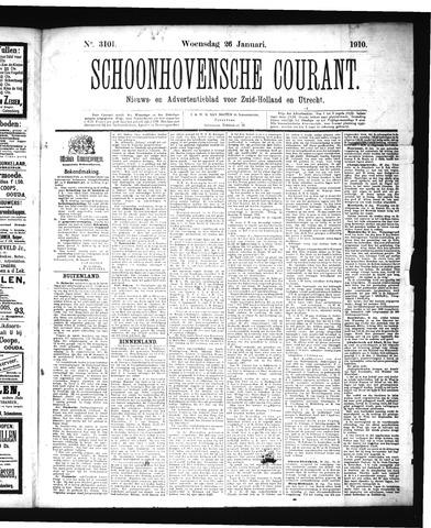 Schoonhovensche Courant 1910-01-26