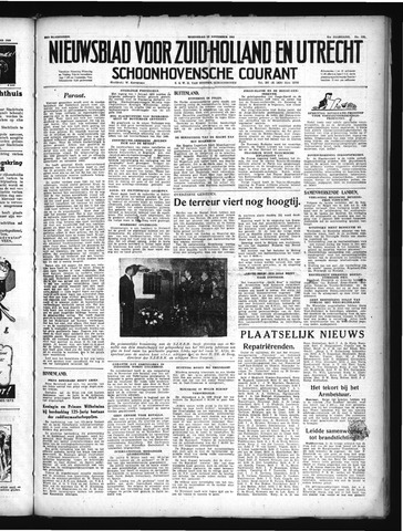 Schoonhovensche Courant 1949-11-16