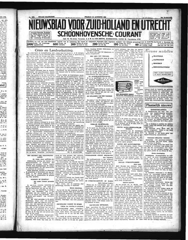 Schoonhovensche Courant 1938-08-26