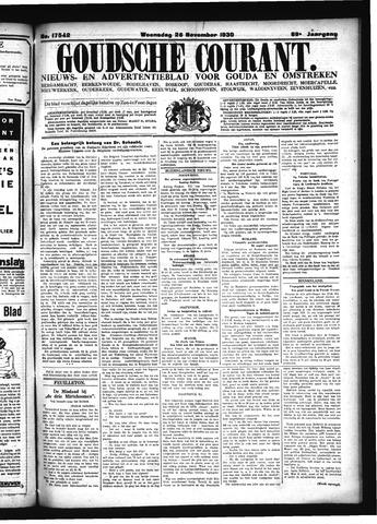 Goudsche Courant 1930-11-26
