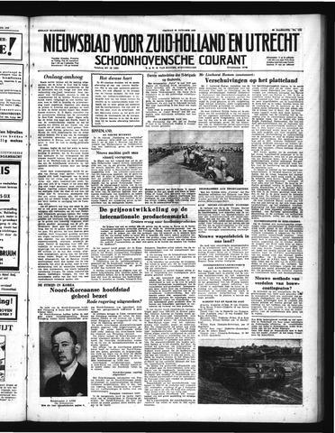 Schoonhovensche Courant 1950-10-20