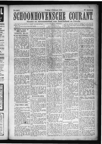 Schoonhovensche Courant 1923-02-09