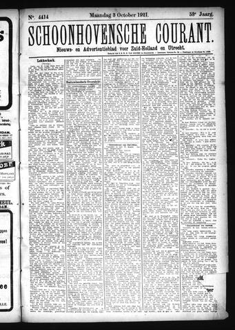 Schoonhovensche Courant 1921-10-03