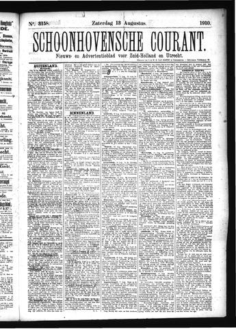 Schoonhovensche Courant 1910-08-13