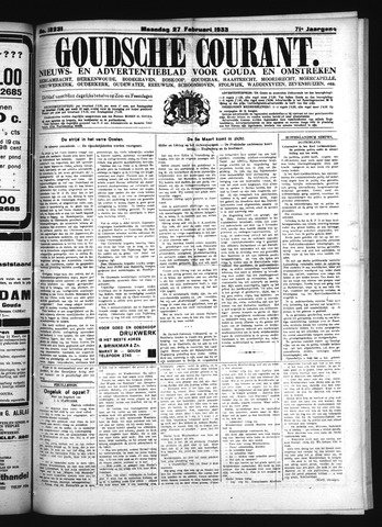 Goudsche Courant 1933-02-27